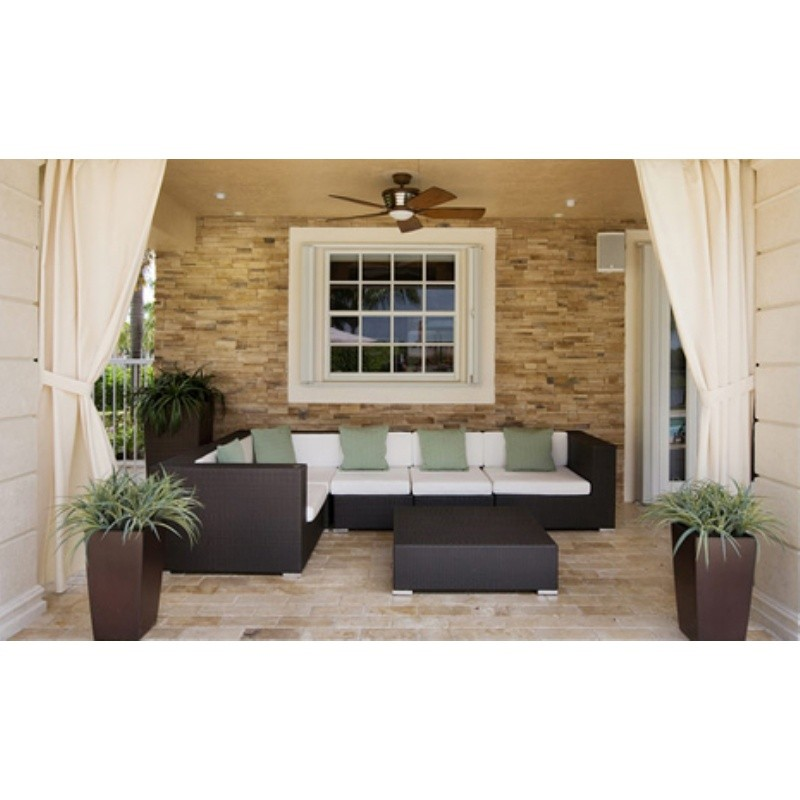 Tangier Outdoor Wicker Sectional Deep Seating Set 7 Piece