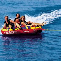 3 person towables, tubes, inflatables, water sports