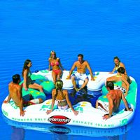Inflatable rafts & inflatable islands