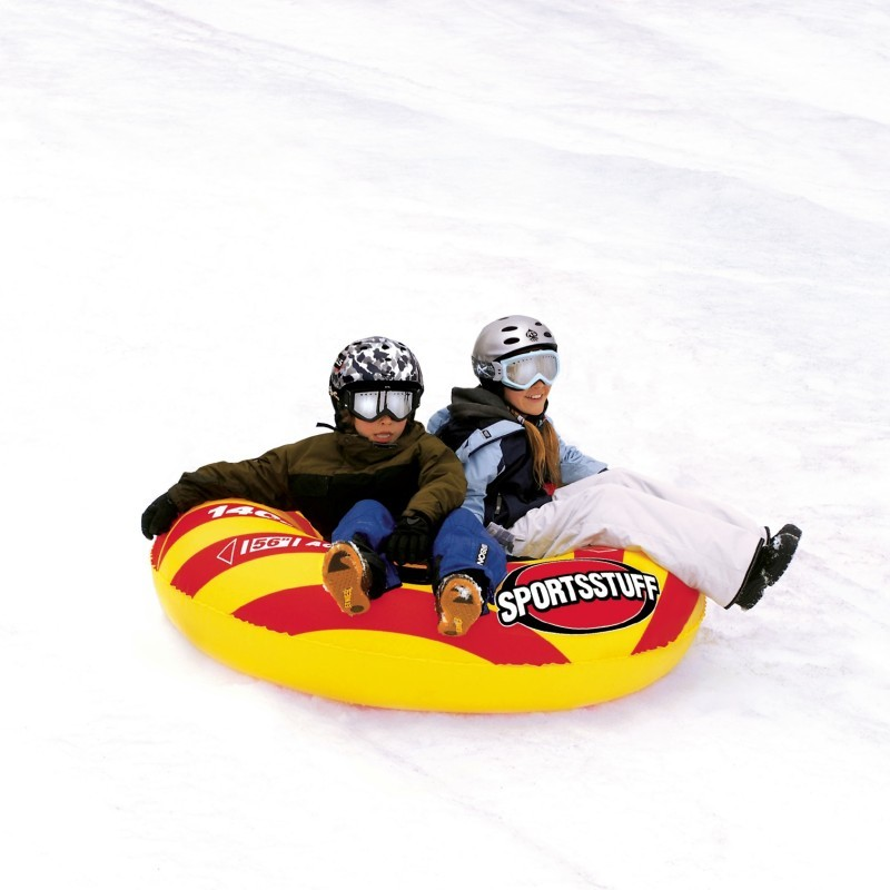 Safe Sleds for Kids: Air Flyer Inflatable Snow Tube Double Rider