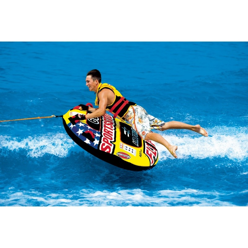 1 Person Towables, Tubes, Inflatables, Water Sports: Airforce 1 Rider Towable Tube