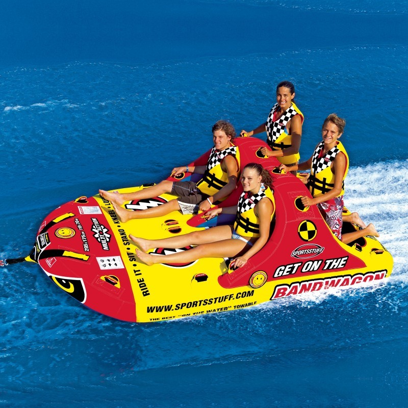Towable Raft: Bandwagon 4-Person Towable Tube