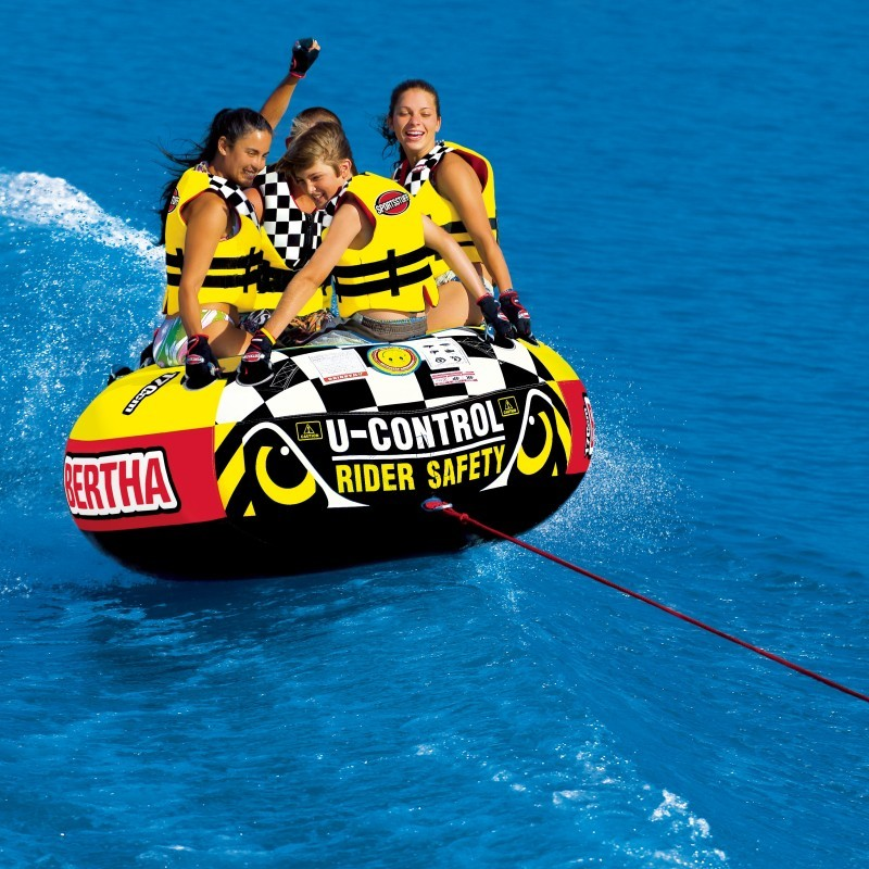 Three Seater Tube: Big Bertha 4-Person Towable Tube