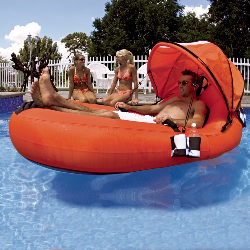 Inflatable Feel Good Float With Canopy Sp54 1701
