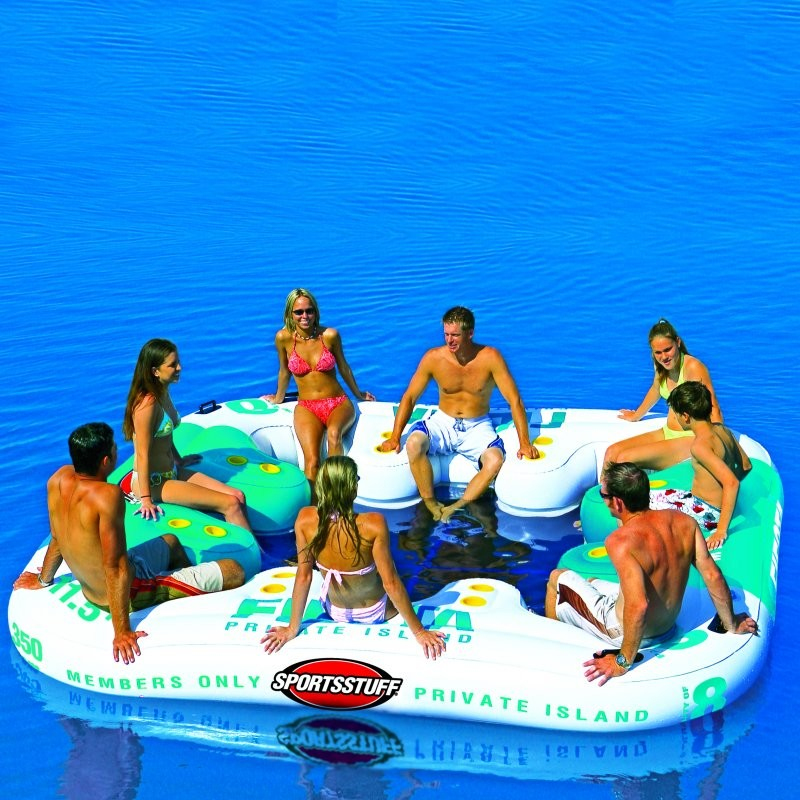 Blow Up Bubble Raft: Fiesta Inflatable Island Float