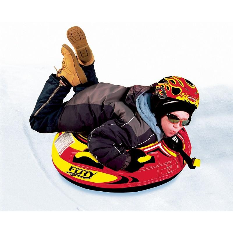 Plastic Molded Sled: Fury Inflatable Snow Tube