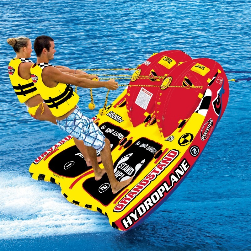 Double Tube Float: Waterski Grandstand Towable Tube 2 Rider