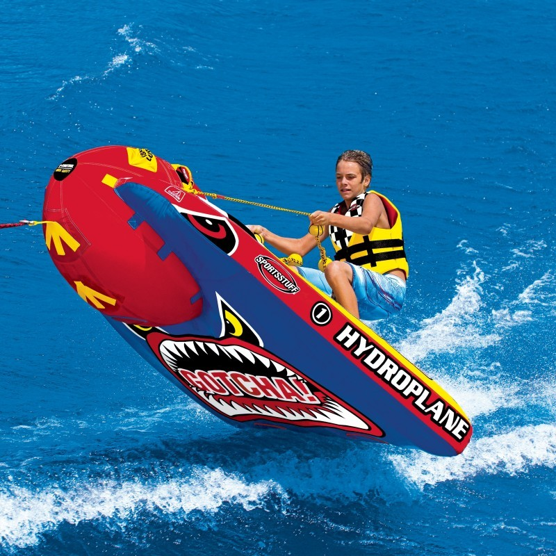 Double Tube Float: Waterski Grandstand Towable Tube 1 Rider