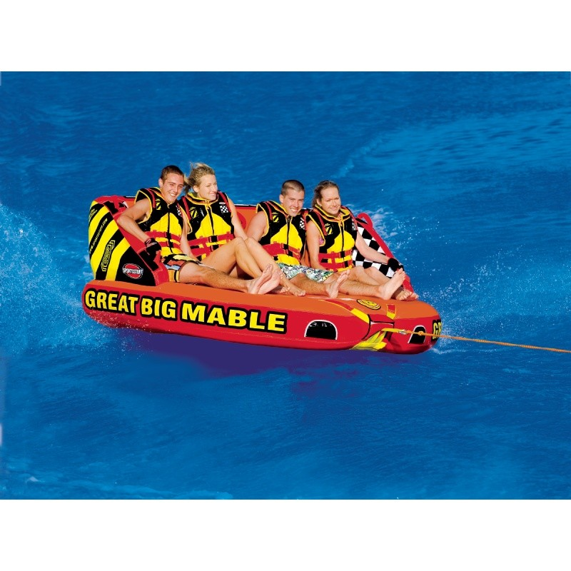 Double Tube Float: Mable Four Rider Waterski Tube