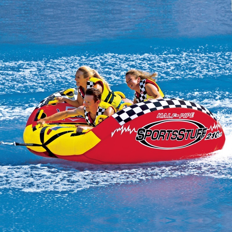 3 Person Pool Float: Halfpipe Frantic Waterski Tube for 3