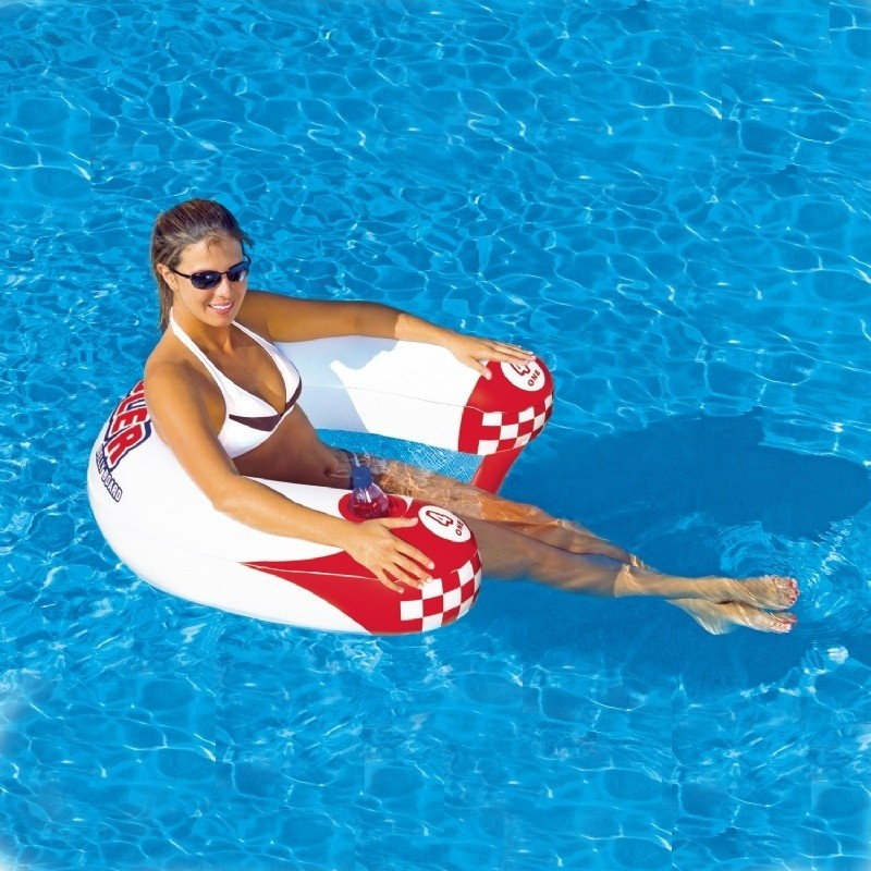 Aqua Leisure Recliner Fabric Comfort Lounge Floating Pool Chair: Noodler 1 Person Pool Float