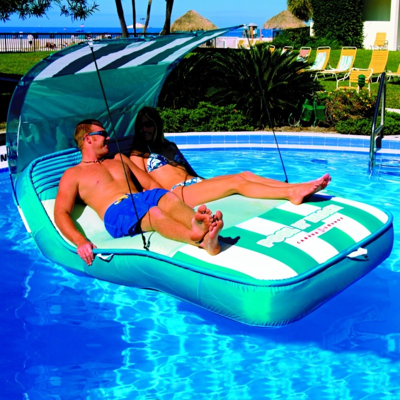 Pool Float with Shade Cover: Inflatable Pool N Beach Cabana Float