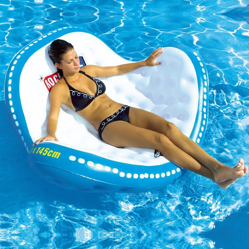 Aqua Leisure Recliner Fabric Comfort Lounge Floating Pool Chair: Rock and Roll Inflatable Pool Lounge
