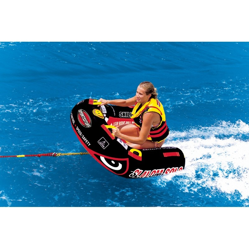 Tubes To Pull Behind Boat: Slalom Solo 1 Person Towable Tube