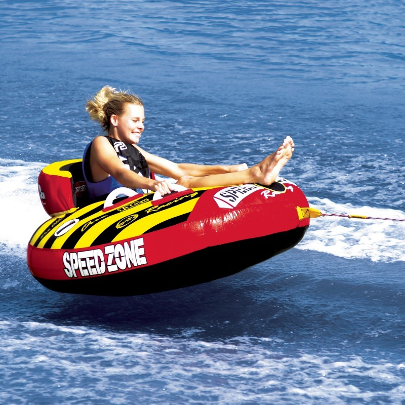 1 Person Towables, Tubes, Inflatables, Water Sports: Speedzone 1-Person Sit-down Towable Tube