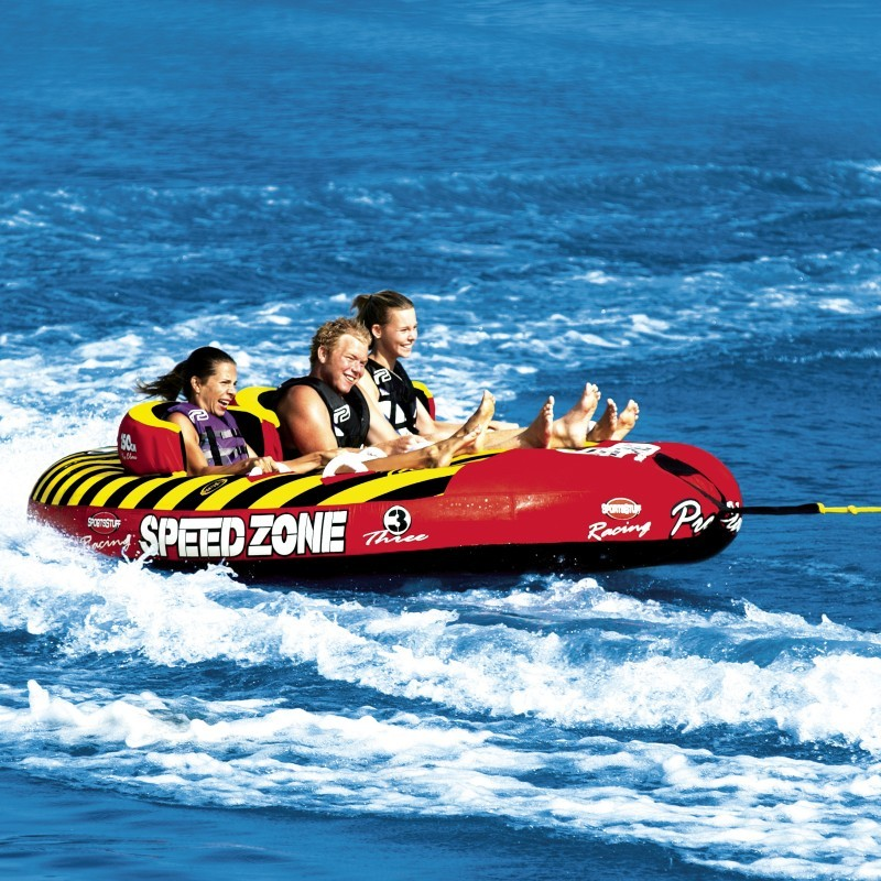 3 Person Big Mable Tube: Speedzone 3 Person Sit-down Towable Tube