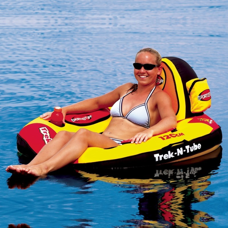 Solid Rubber Pool Rafts: Trek n Tube Inflatable Lake Lounge