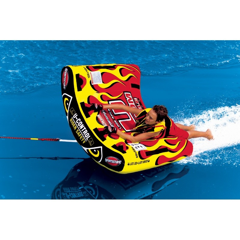 1 Person Towables, Tubes, Inflatables, Water Sports: U-Slalom 1 Towable Tube 1-Rider