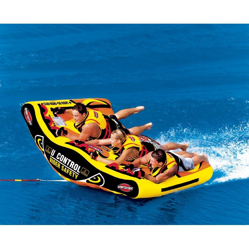 Tubes To Pull Behind Boat: U-Slalom 3 Person Towable Tube