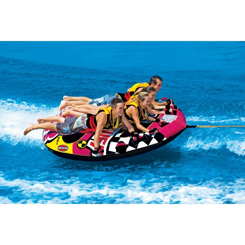Kid's Inflatable Jet Ski Pool Ride on Toy: Wet Wild Flyer Towable 89 inch Tube