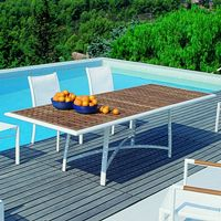Outdoor rectangle dining tables