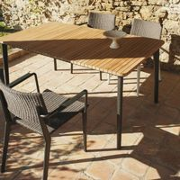 Riba Outdoor Dining Set with Armchairs 5 Piece TRI40100SET2