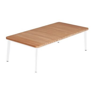 Riba Outdoor Coffee Table with Teak Top TRI40712
