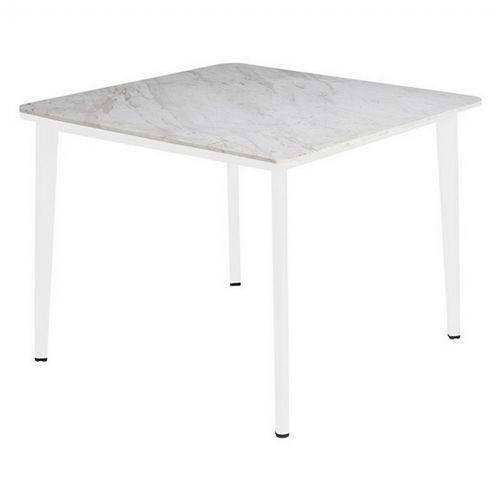 Riba Outdoor Square Dining Table with Marble Top TRI40704