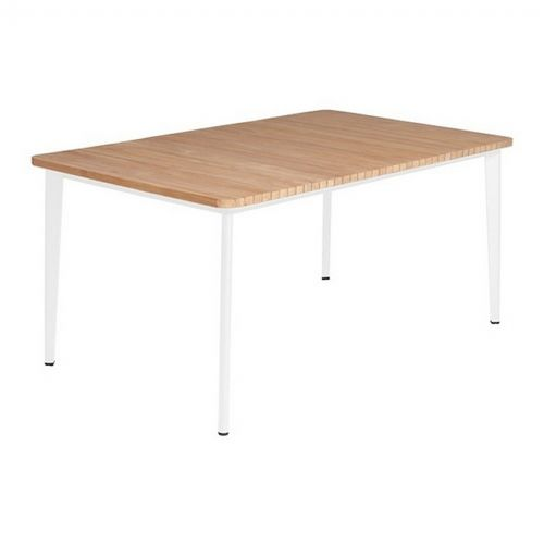Riba Rectangle Outdoor Dining Table with Teak Top 63 inch TRI40716