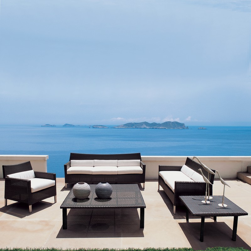 Outdoor Furniture: Triconfort: Biarritz Collection: Biarritz Outdoor Deep Seating Set 5-piece