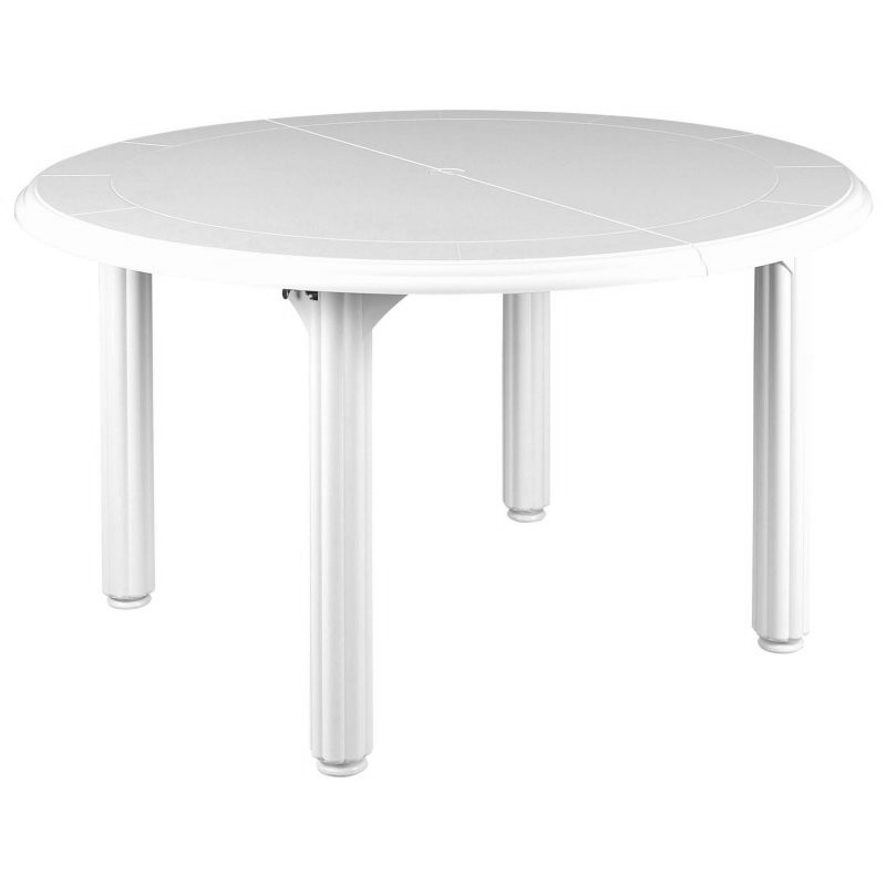 Outdoor Furniture: White Patio Furniture: Elysee Round Table