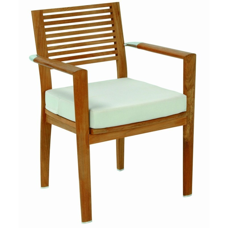 Pro Garden Chairs: Triconfort Equinox Luxury Teak Outdoor Dining Arm Chair