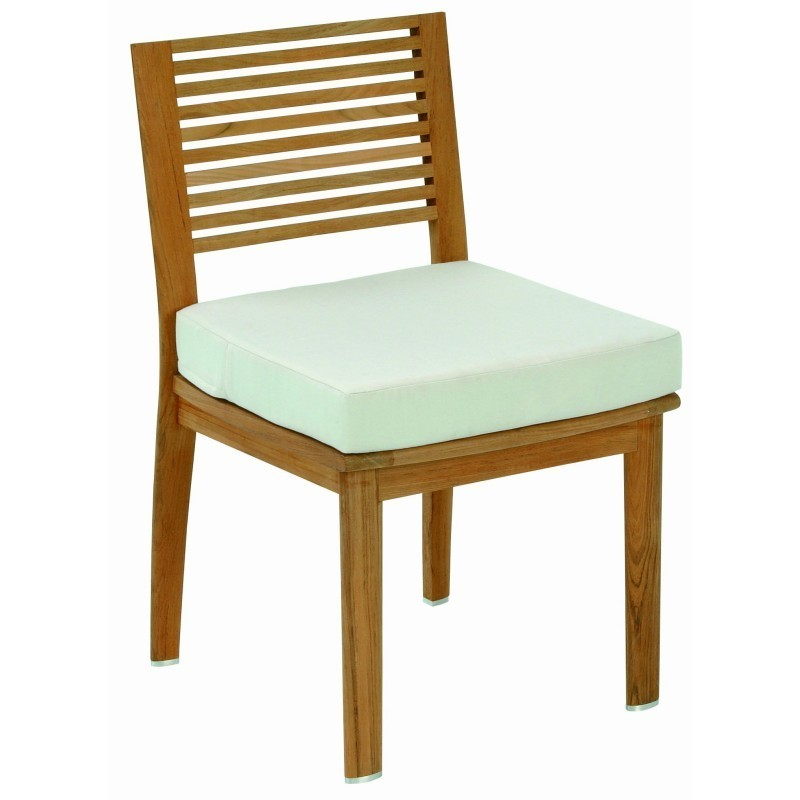 Folding Aluminum Webbed Lawn Chairs: Triconfort Equinox Luxury Teak Outdoor Dining Chair