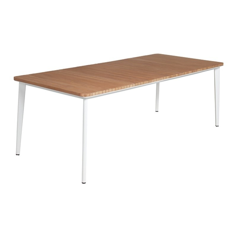 Hardy Rectangle Outdoor Dining Table with Teak Top 86 inch