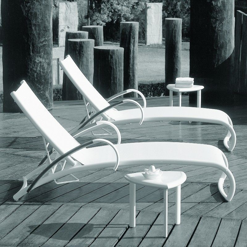 Poolside Comfort Set - Rivage 4-Piece : White Patio Furniture