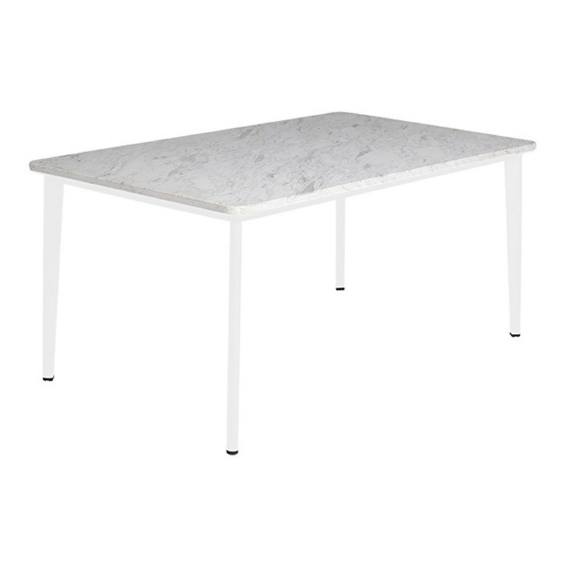 Hardy Rectangle Outdoor Dining Table with Marble Top 63 inch