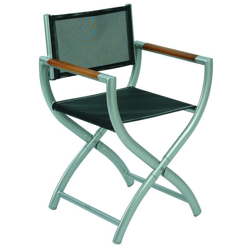 Outdoor Folding Dish Chair: Triconfort Rivage Outdoor Director's Chair