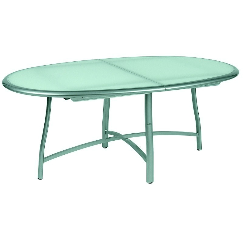 Oval Patio Dining Tables Resin Aluminum Wicker