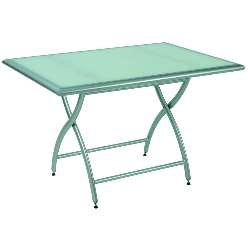 Collapsible Table On Rectangle Patio Dining Tables Rivage Rectangular Folding  Table