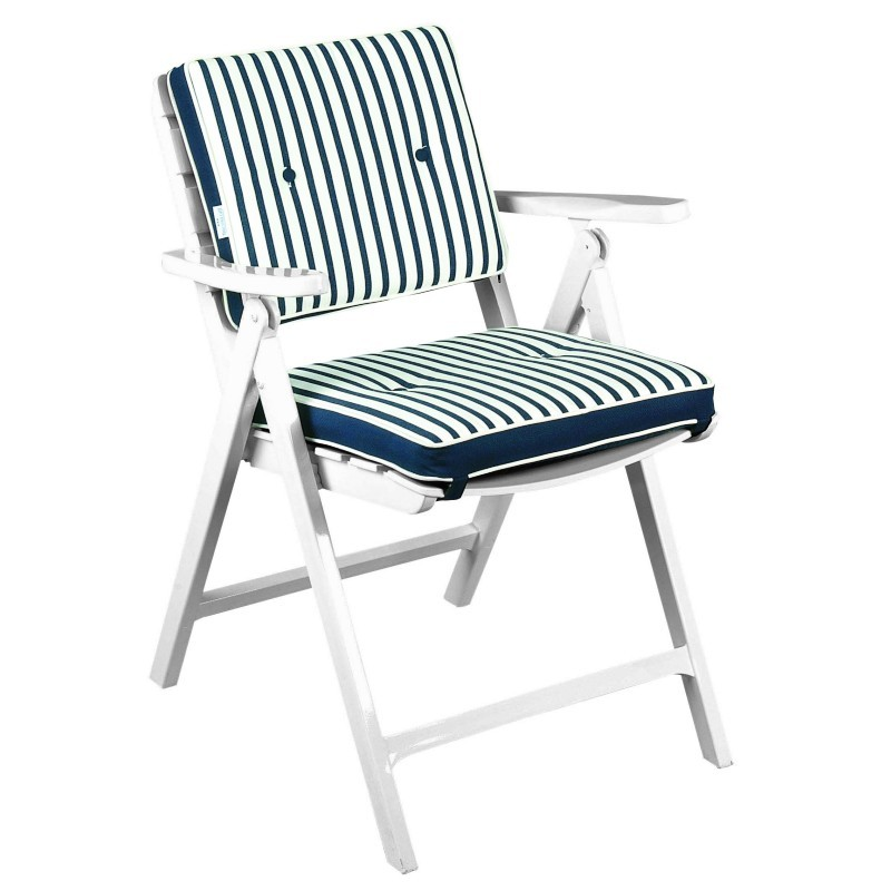 Folding Outdoor Chairs: Triconfort Riviera Outdoor Folding Armchair with Cushion