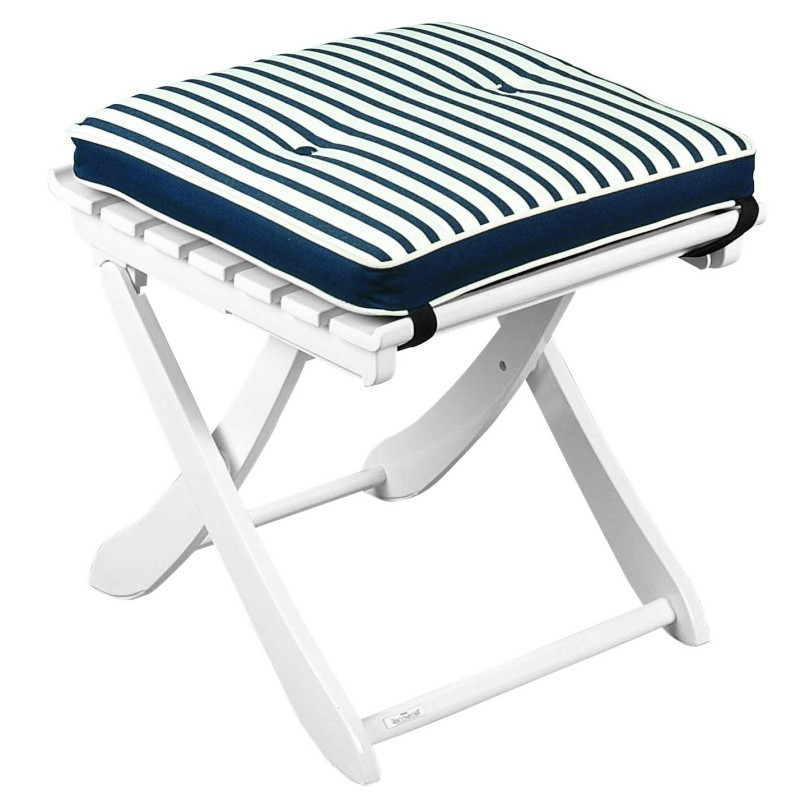 Riviera Multiposition Outdoor Foot Stool : White Patio Furniture