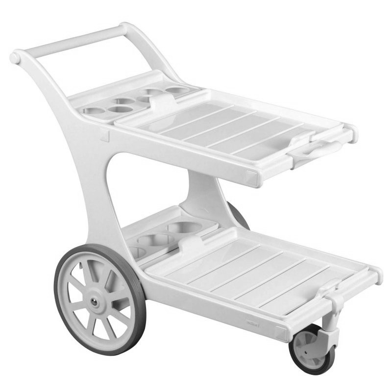 Riviera Outdoor Serving Cart : White Patio Furniture