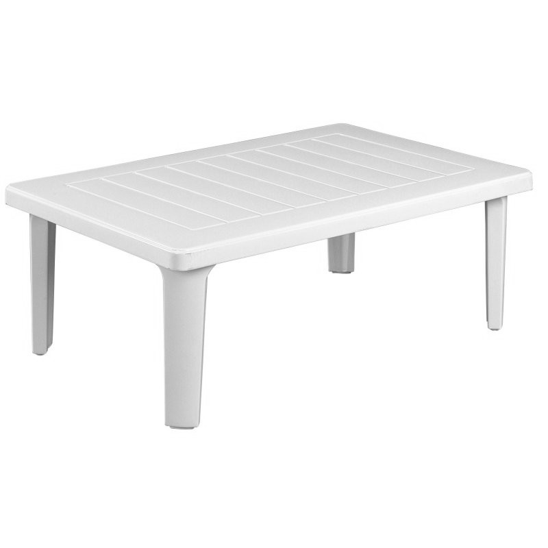 Riviera Rectangle Outdoor Coffee Table : White Patio Furniture
