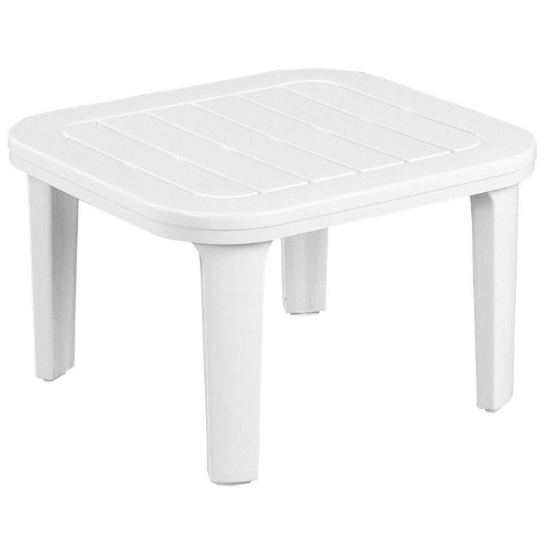 Riviera Square Outdoor Coffee Table : White Patio Furniture