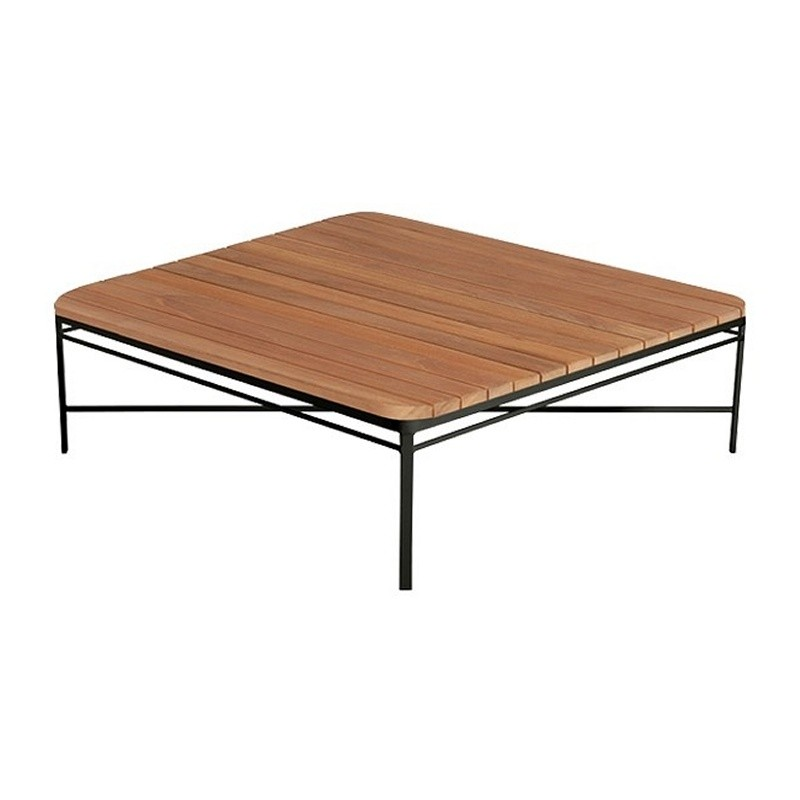 Triconfort 1950 Outdoor Square Center Table With Teak Top