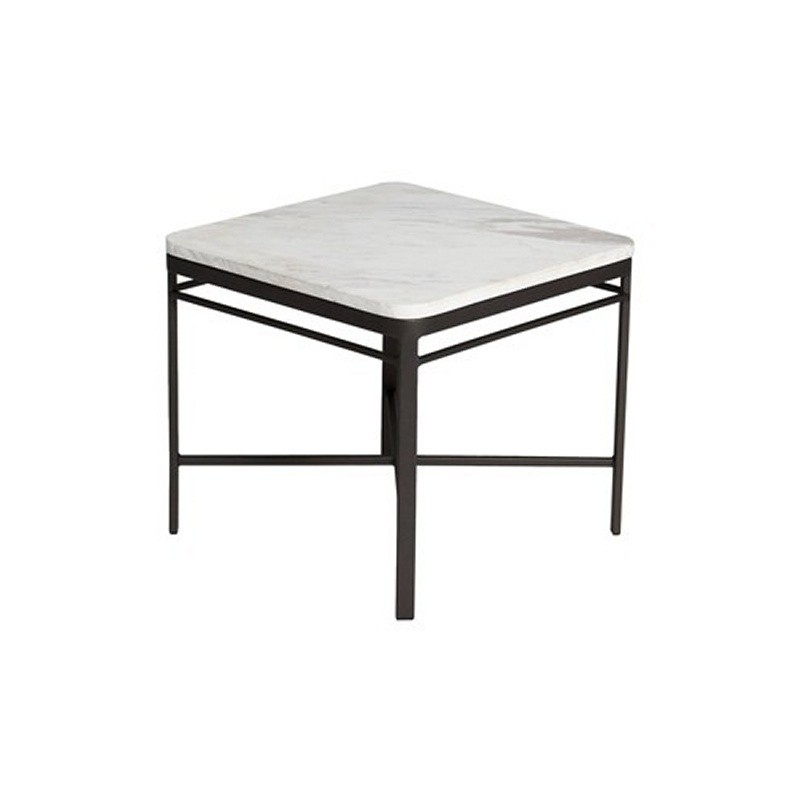 Triconfort 1950 Outdoor Square Side Table With Marble Top