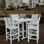 POLYWOOD® Captain Five Piece Outdoor Bar Set PW-5BNCBT37