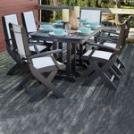 POLYWOOD® Coastal Sling Outdoor Dining Set 7 Piece Rectangle PW-S154