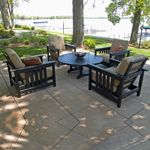 POLYWOOD® Plastic Club Mission Patio Chat Set 5 Piece PW-5CCMC