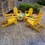 POLYWOOD® Classsic Folding Adirondack 5 Piece Conversation Set Vibrant Colors PWS119-1